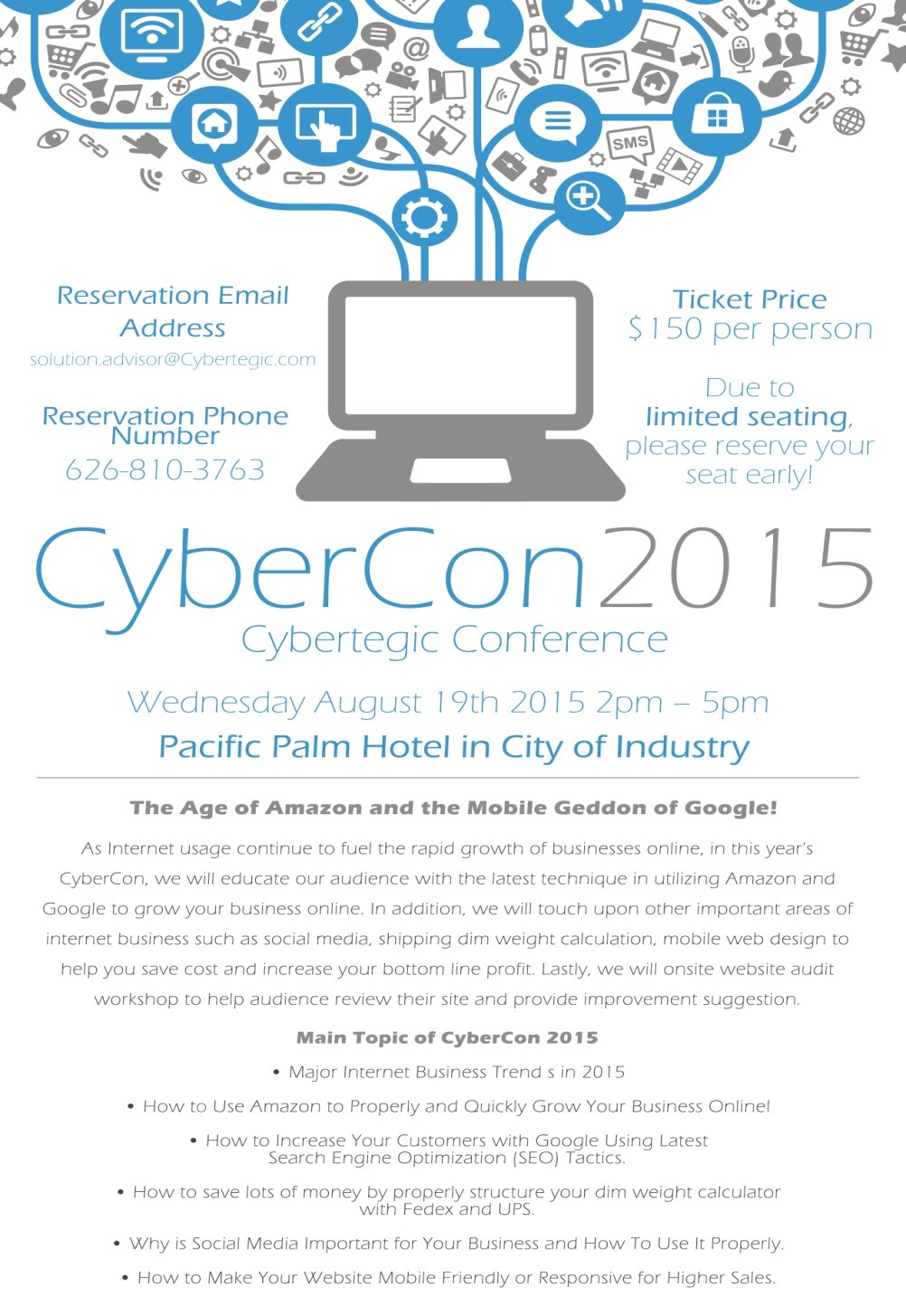 Learn How to Grow Your Business Online at Cybercon 2015